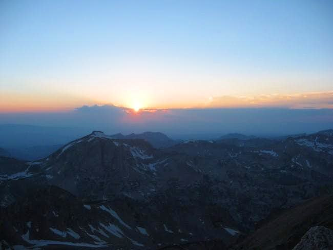 Sunset from the saddle of the...