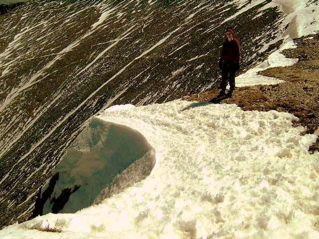 Torreys Peak, Colorado. (Last cornice)
