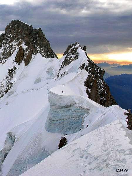Aiguille de Rochefort ridge