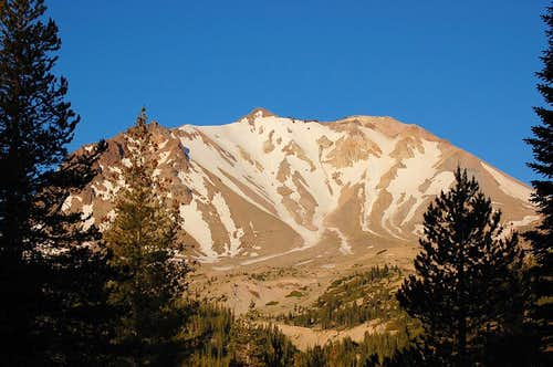 Lassen Peak from the East, early morning