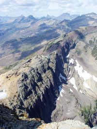 Continental Divide from Swiftcurrent Mtn Lookout