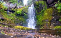 Waterfall on the Elizabeth Lake trail