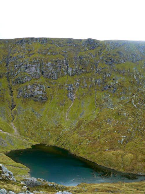 Coirein Lochan beneath Sron nan Giubhas