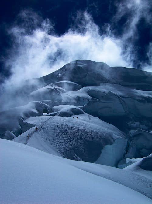 At 5950m on the SW Ridge.