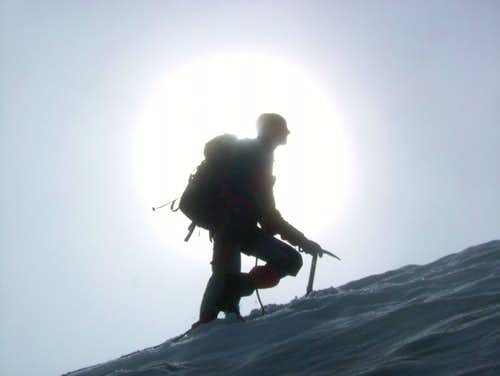 Silhouette of myself on the Mittlerer Seelenkogel