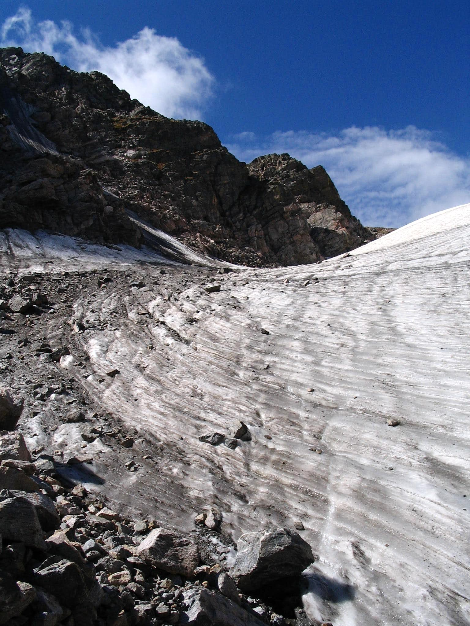 """A very beautiful thing in the mountains - experience on Andrews Glacier, CO"""