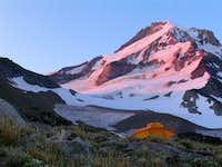 Tent Below Snow Field on Hood, NF