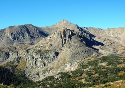 Mount Jasper from the trail up to South Arapahoe