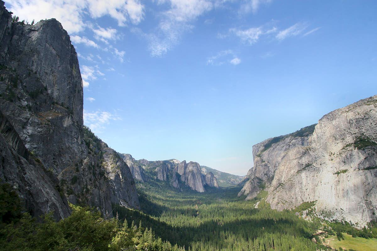 View from Four Mile Trail, Yosemite Valley