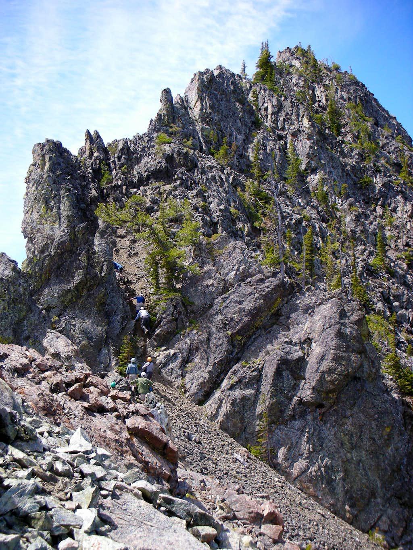 Scramblers on Volcanic Neck
