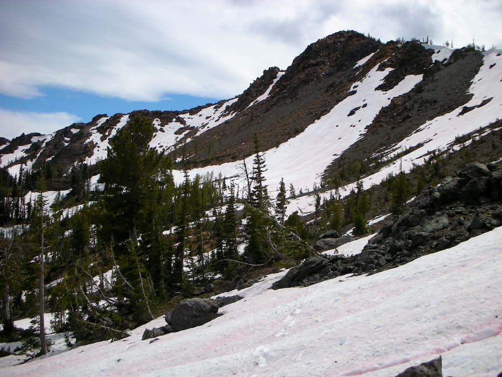 Looking back towards Bean Peak