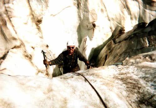 Playin in crevasses on cerro...