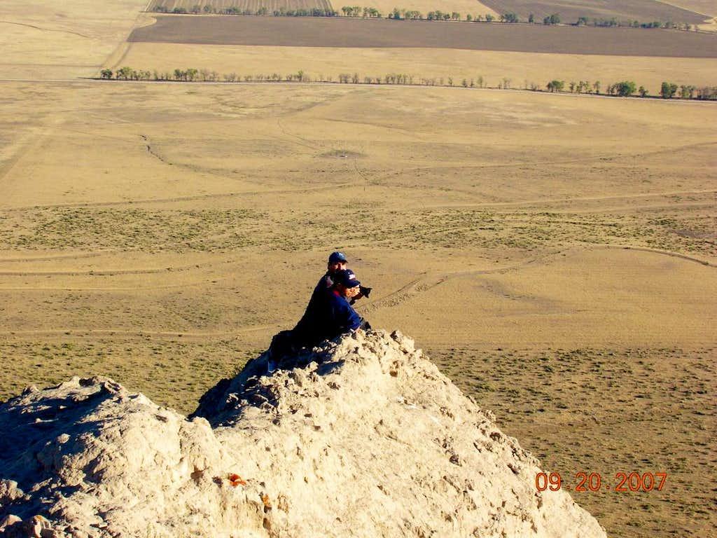 Photographers On End of High Ridge