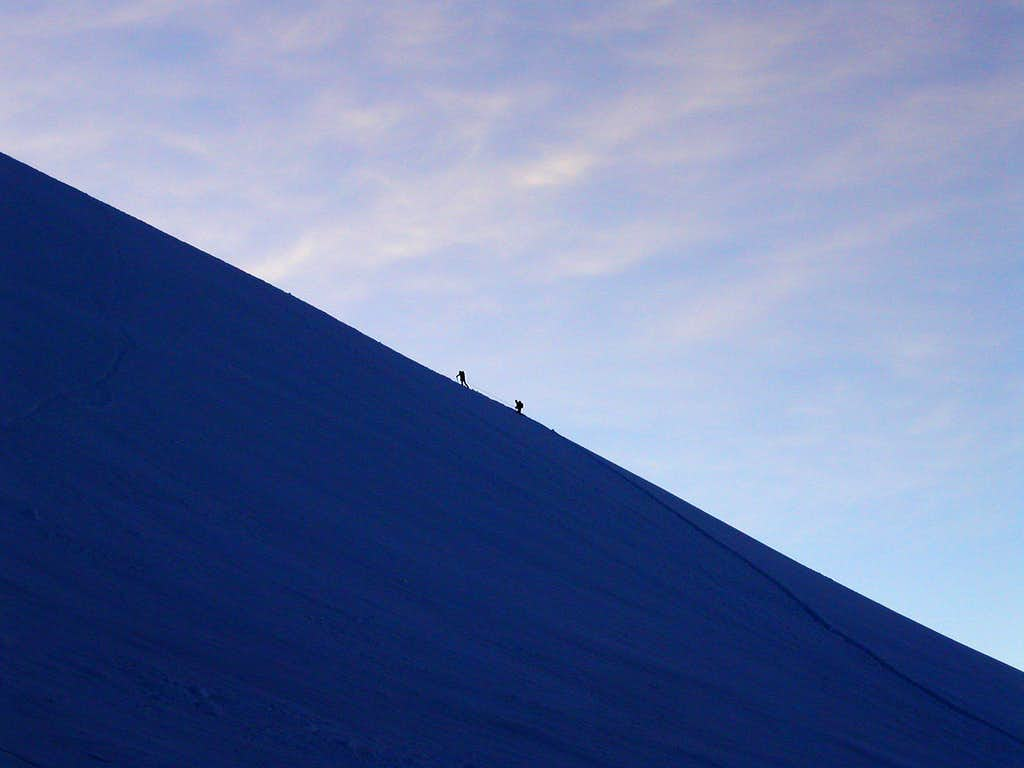 Ascent on Castor and Lyskamm