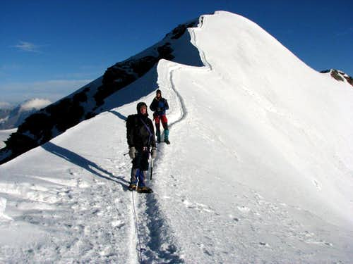 On the ridge of Castor, 4226m.
