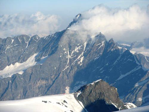 The mighty Dent d'Hérens, 4171m.