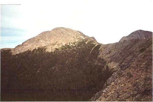 Warren Peak from Edith Lake
