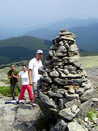 Cairn near the peak of Mt. Marcy