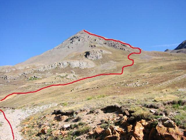 The south ridge of