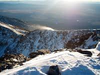 Wheeler summit looking along the ridge to Jeff Davis 1/2/07