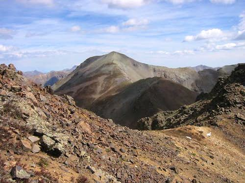 The fourteener Handies Peak...