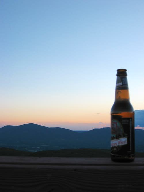 Long Trail Ale at Sunset