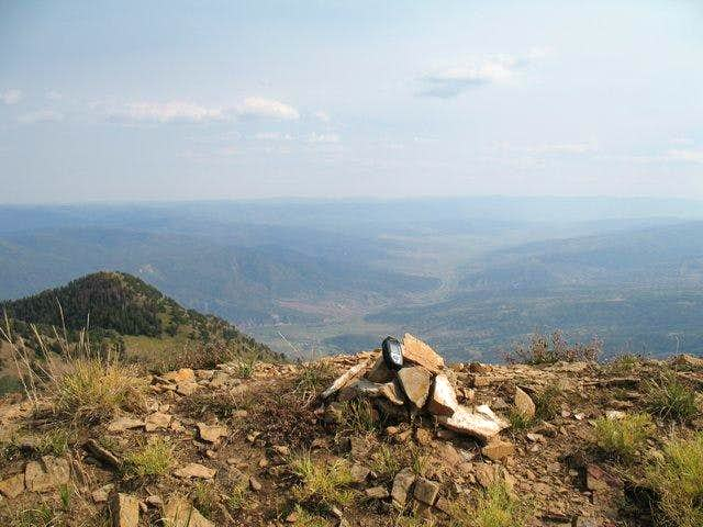 The summit of Loafer Mtn.