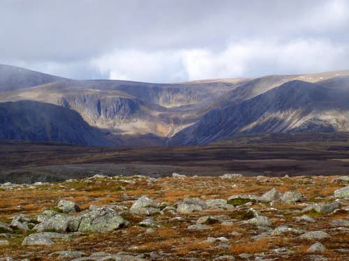 Coire's to the east of Ben Macdhui