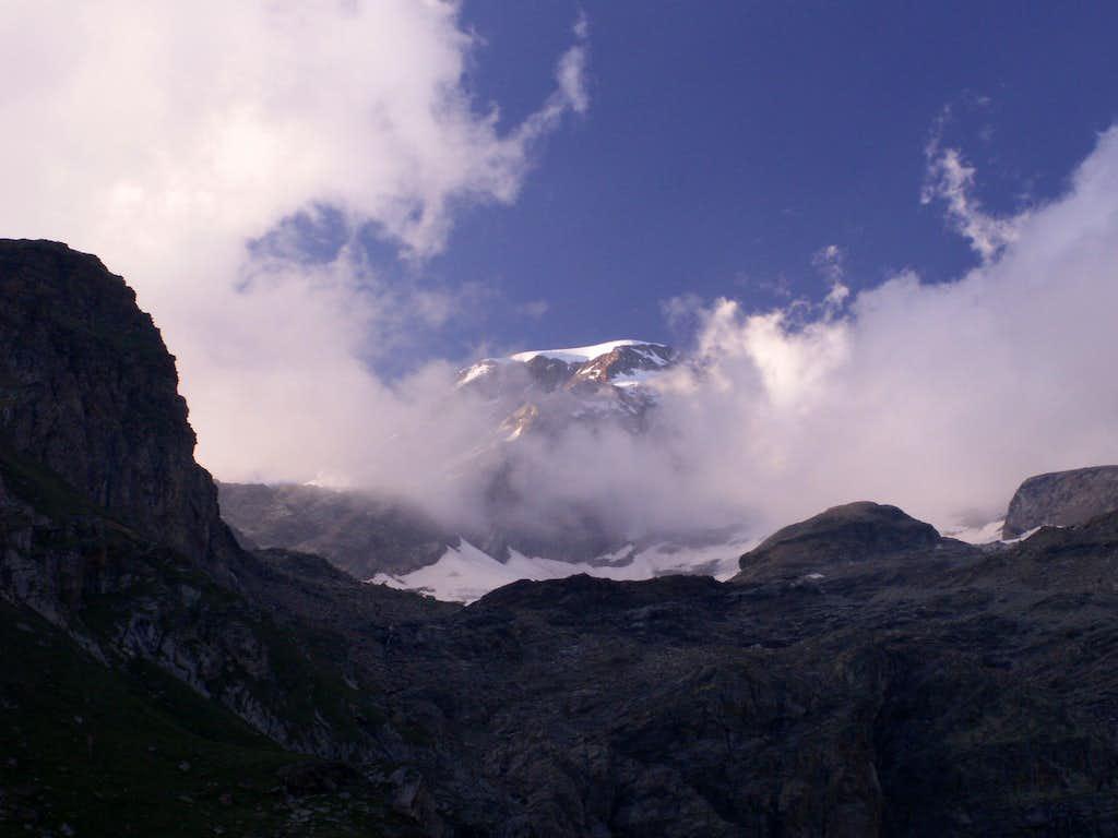 In clouds...