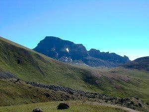 A view of Uncompahgre Peak...