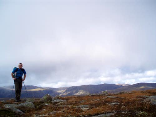Self portrait en route to Beinn a\'Bhuird