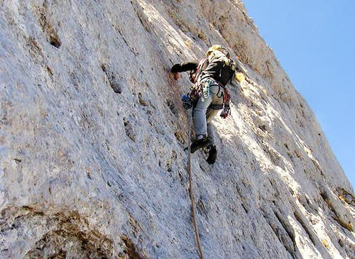 "Climbing ""Attenti alle Clessidre route"""
