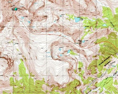 Topographic Map showing the...