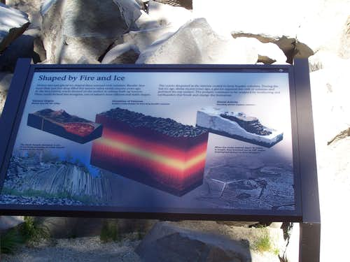 Sign in front of Devils Postpile