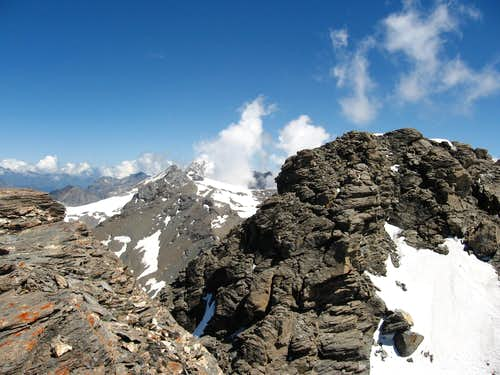 The summit of Grande Traversiere taken from Punta Bassac Sud.