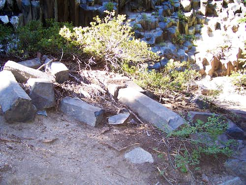 Trail next to some mini Postpiles