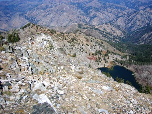 Heart lake and North Ridge