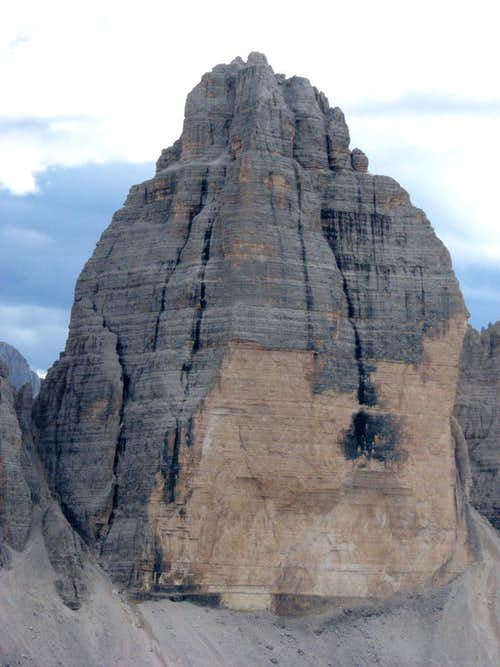 The mighty north face of Cima Ovest di Lavaredo (Westliche Zinne).