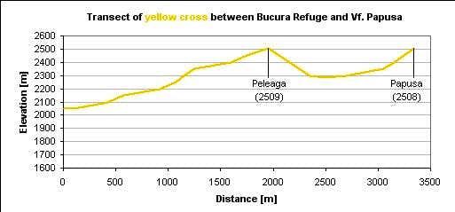 Yellow cross to Peleaga