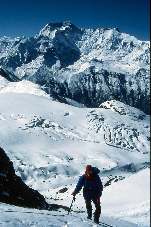 Annapurnas ii and iv from high on Chulu East