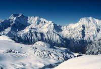 The Annapurnas from High on Chulu East