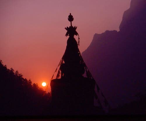 Chorten at Sunset