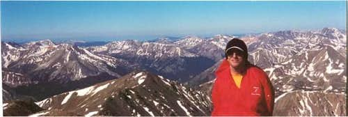 On the summit of Mt. Elbert,...