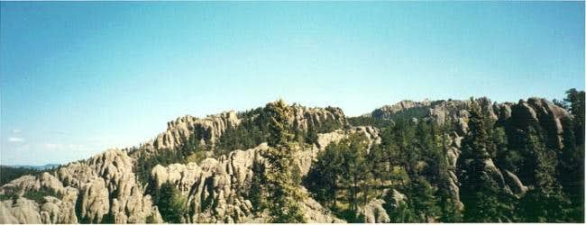 View of the rocky spires from...