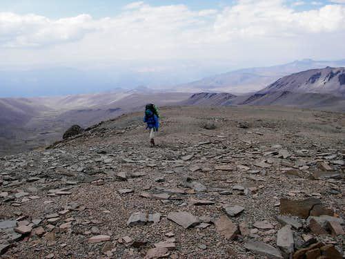 Carla Coming up the Ridge