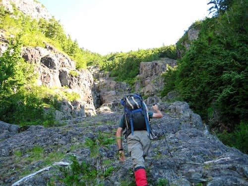 Climbing Bear Shit Gully
