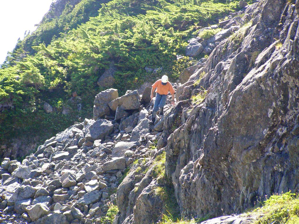 Descending from Summit of Pinder Peak