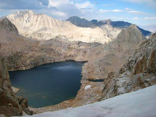 Upper Royce Lake, Pk 12,470 from Royce/Feather Col