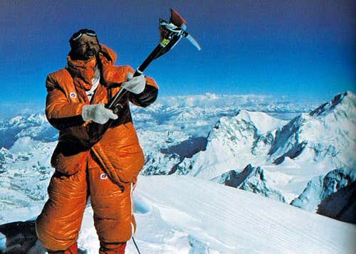 Pierre Mazeaud on top of Everest (1978)