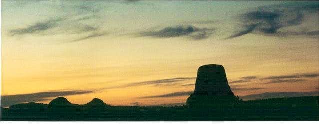 Devil's Tower at sunset....